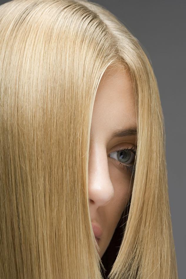 金发碧眼外国美女头发特写高清图片图片