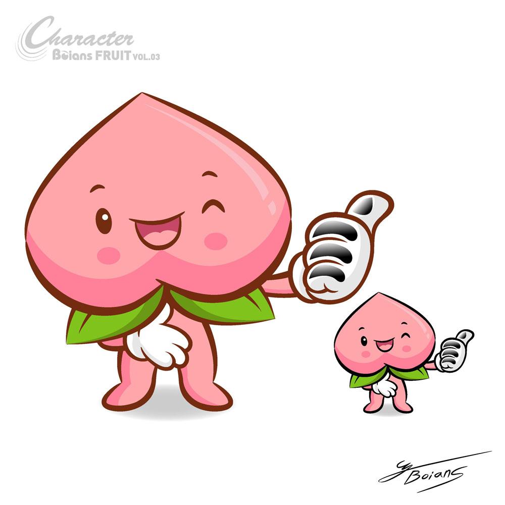集图网 矢量素材 矢量人物 卡通形象 水蜜桃,卡通桃子,桃,手绘桃子图片