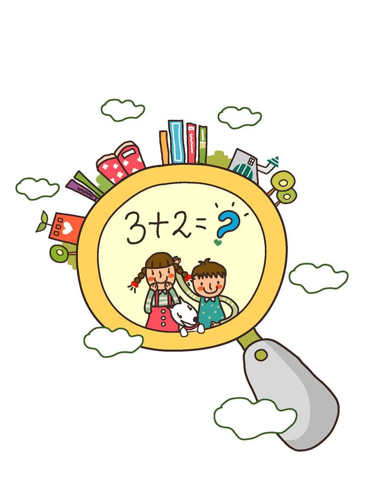 人物 儿童幼儿 卡通儿童,插画,漫画,可爱儿童,孩子,男孩,女孩,数学课图片