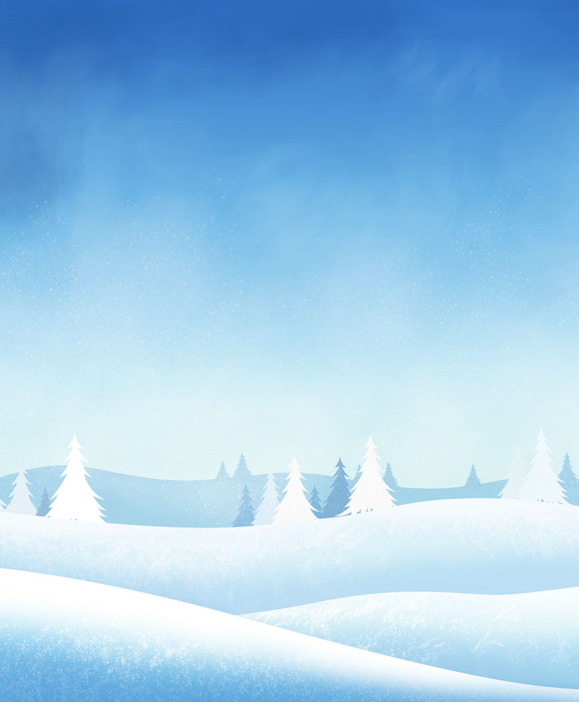 背景花边 底纹背景 冬天,美丽雪景,雪地,树林,树木,卡通风景,梦幻背景图片