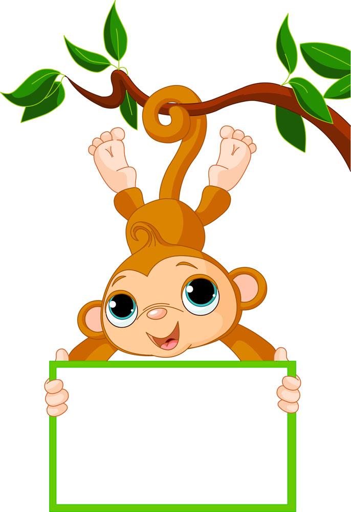 陆地动物 卡通动物,动物插画,卡通画,可爱卡通,猴子,广告牌,陆地动物图片