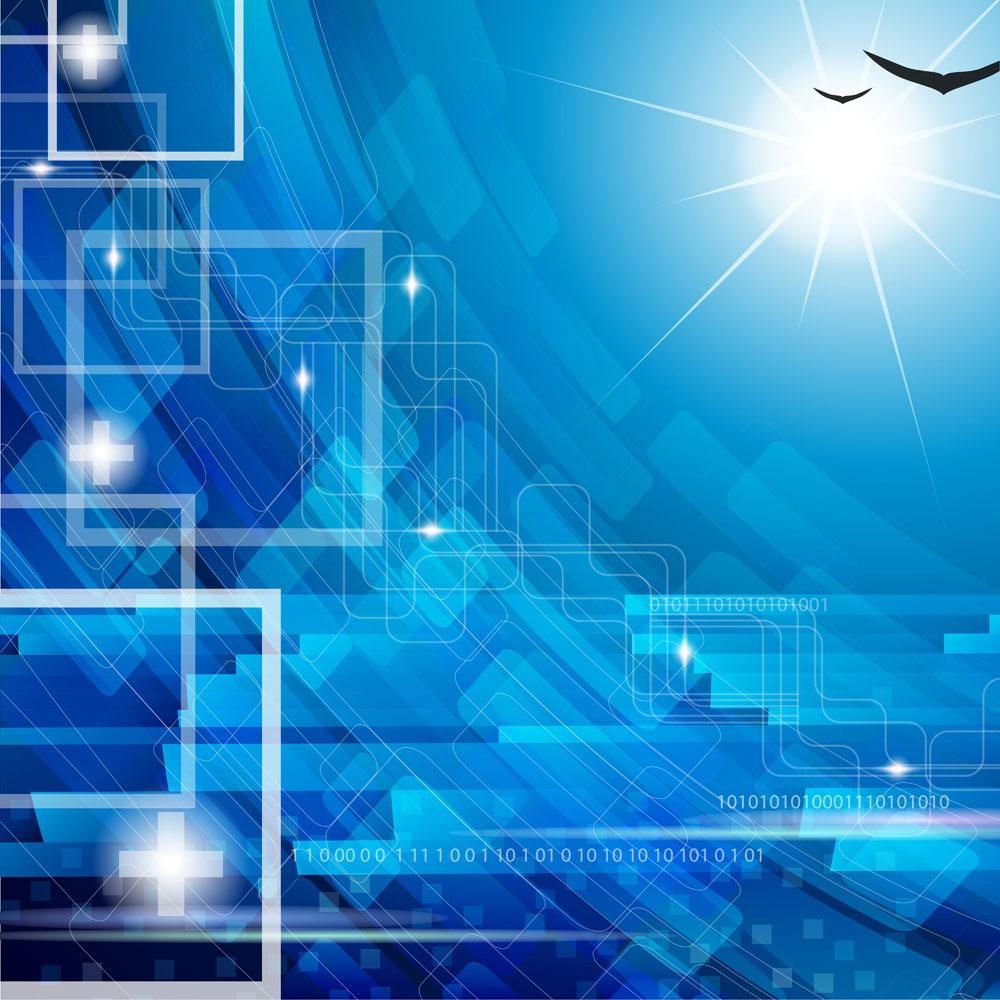 蓝色科技背景 图片素材下载-底纹背景-背景花边-图片