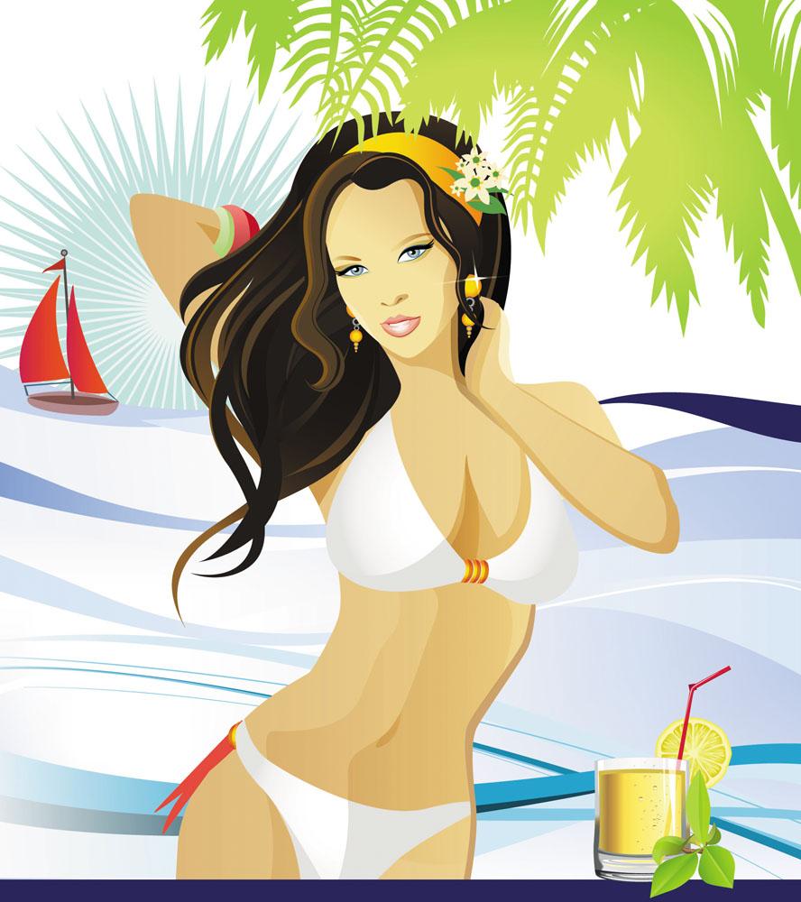 女性女人 时尚美女,插画美女,卡通美女,性感美女,卡通女孩,插画女性图片