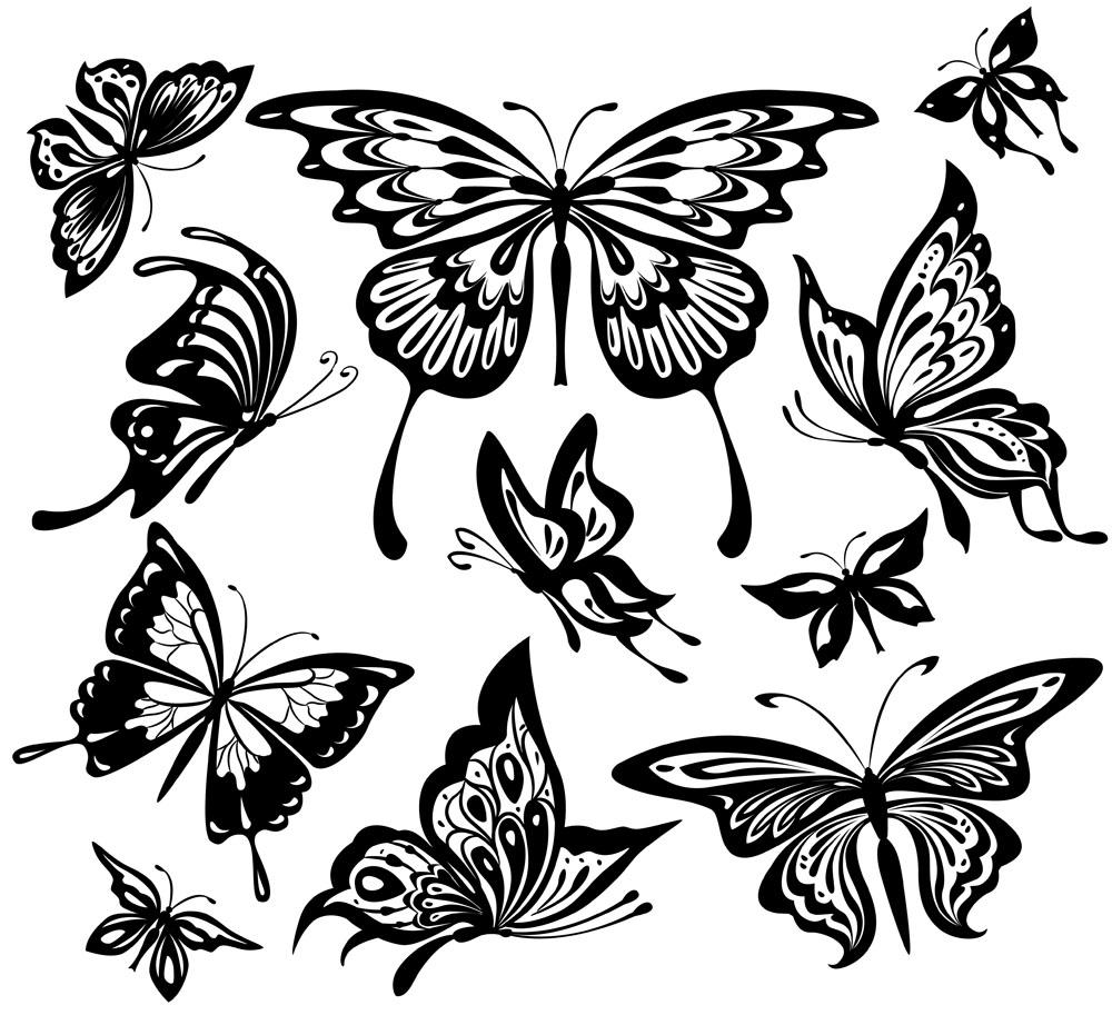 蝴蝶纹身图案设计图片图片