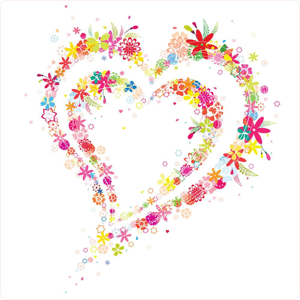爱心花纹矢量素材下载-情人节-节日素材-矢量素材