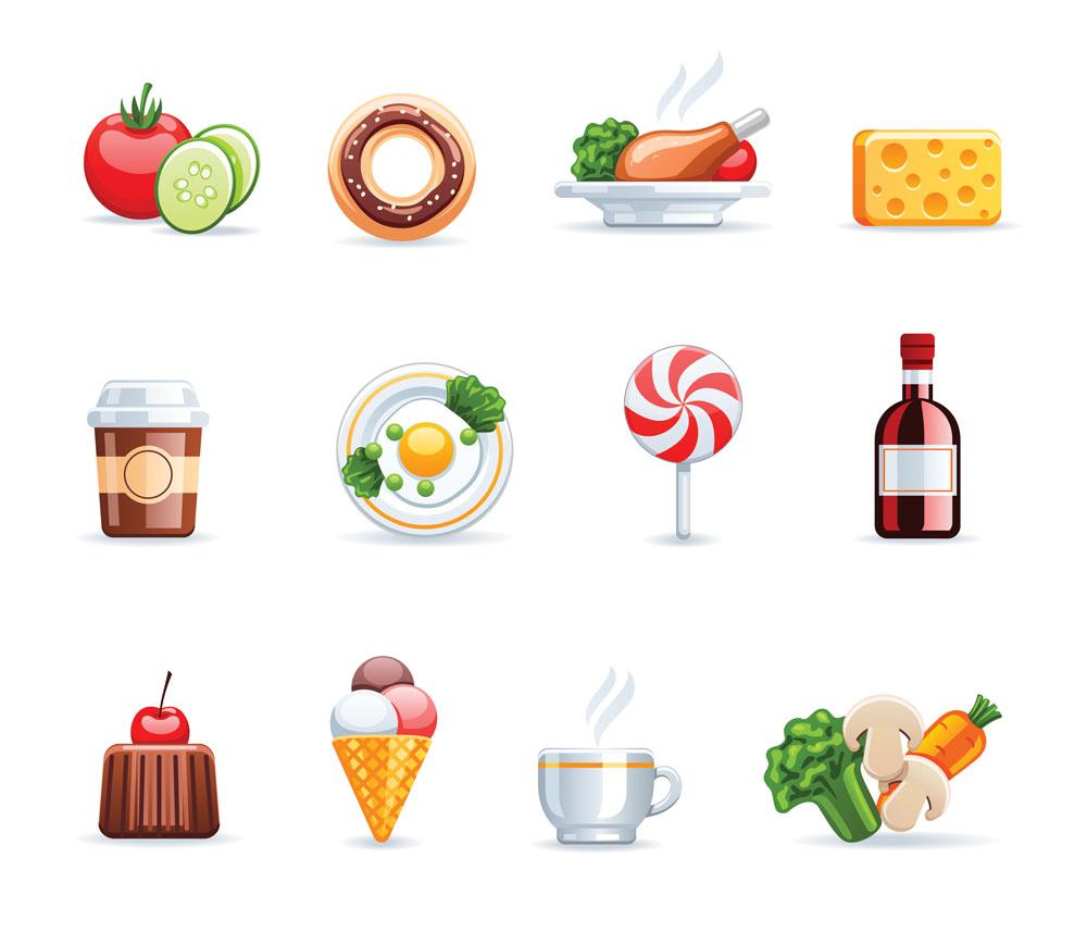 餐饮图标,美食,食物,饮料,咖啡,图标,图标设计,矢量图标,立体图标,3d图片