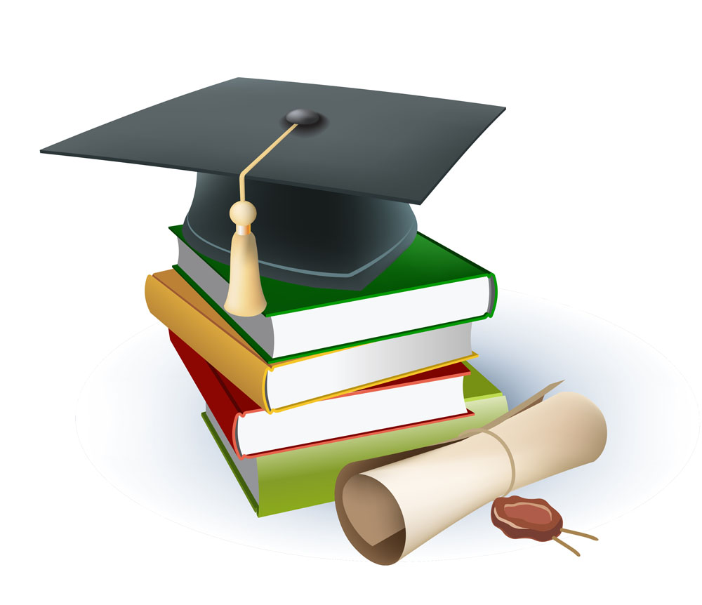 生活百科 办公学习 学校,书,课本,博士帽,毕业证,办公学习,图标,立体图片