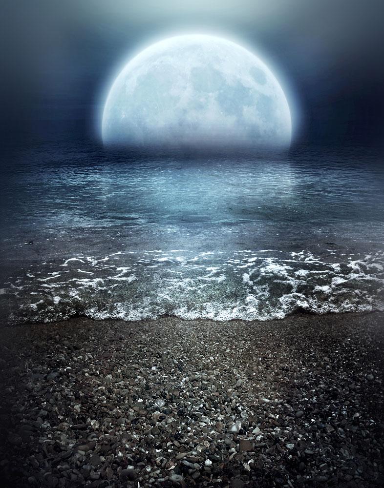 大海上的月亮 图片素材下载-底纹背景-背景花边-图片图片