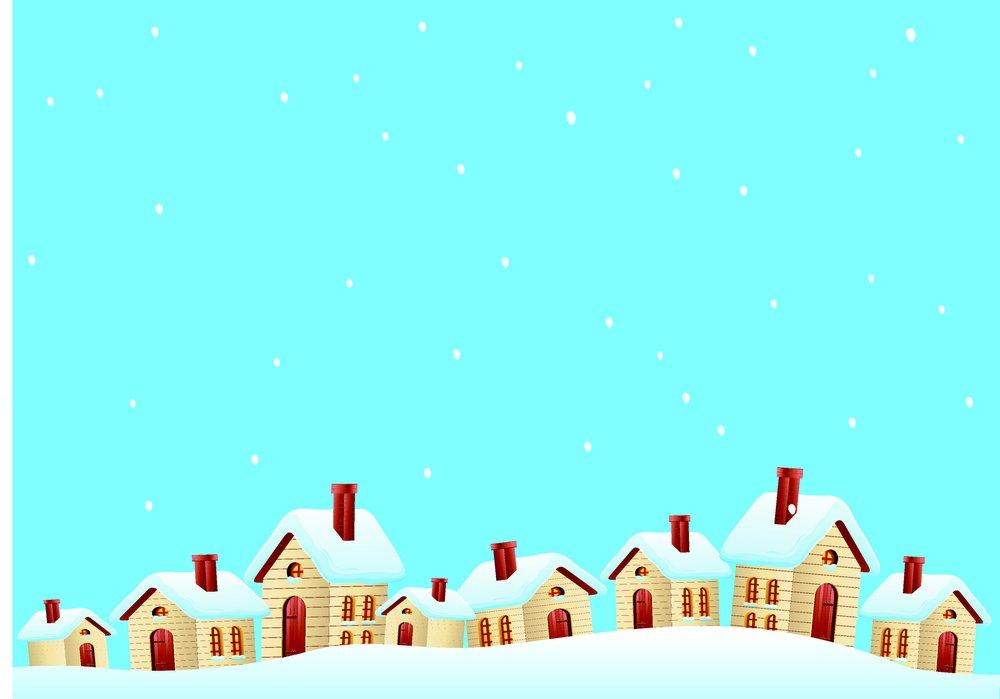 卡通房子,冬天雪景,美丽风景,冬天背景,圣诞节背景,雪地,卡通雪景图片