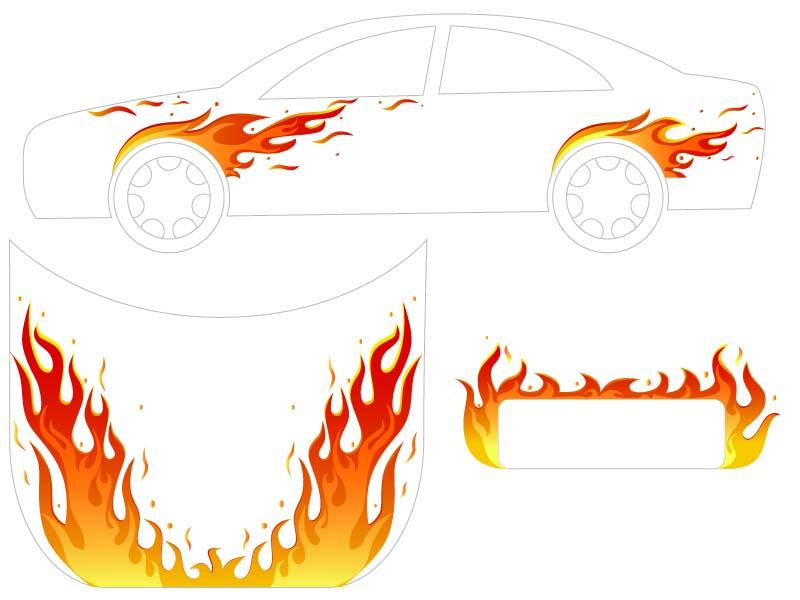 底纹边框 印花图案 火焰,火,火苗,花纹,矢量花纹,图案,汽车,汽车纹身