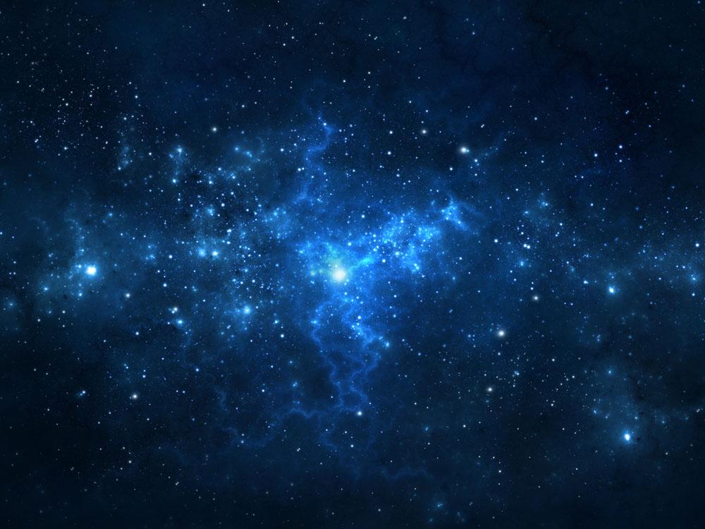 蓝色星空背景素材 图片素材下载-科技背景-背景花边