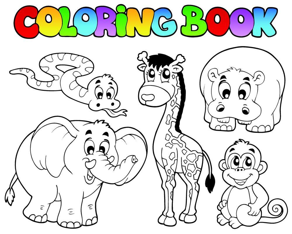 集图网 矢量素材 生物世界 陆地动物 卡通动物,大象,长颈鹿,猴子,蛇图片