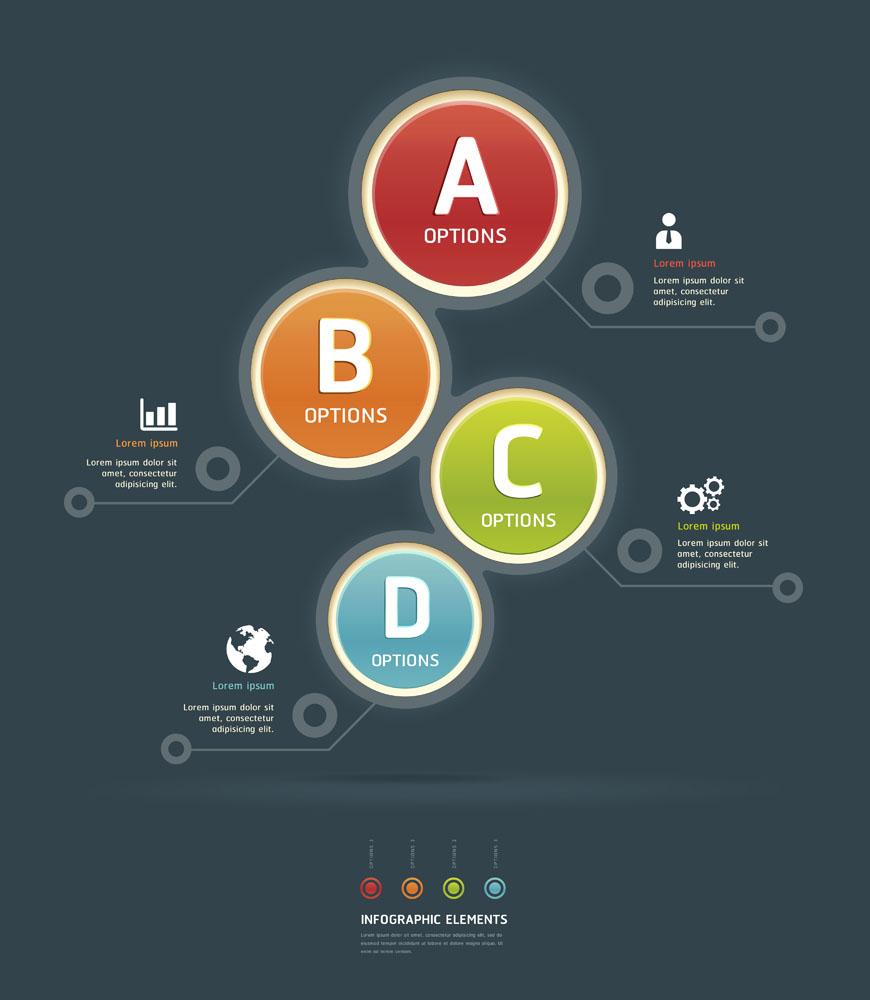 其他模板 彩色,圆环网页目录,网站标签,目录模板,创意版式设计,目录图片