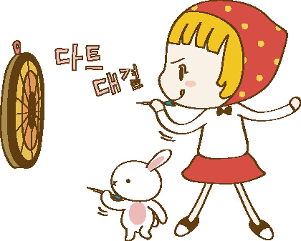 集图网 矢量素材 矢量人物 儿童幼儿 飞镖,卡通女孩,兔子,卡通人物图片
