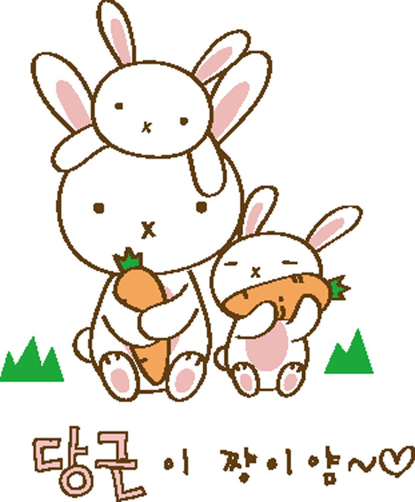 集图网 矢量素材 矢量人物 儿童幼儿 韩国卡通,可爱,兔子,漫画,胡萝卜图片