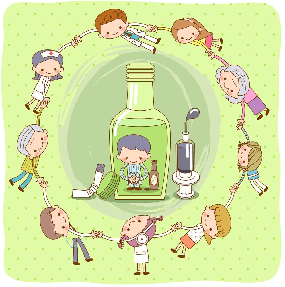 矢量人物 儿童幼儿 手牵手的儿童,卡通男孩,卡通男生,卡通女孩,卡通图片