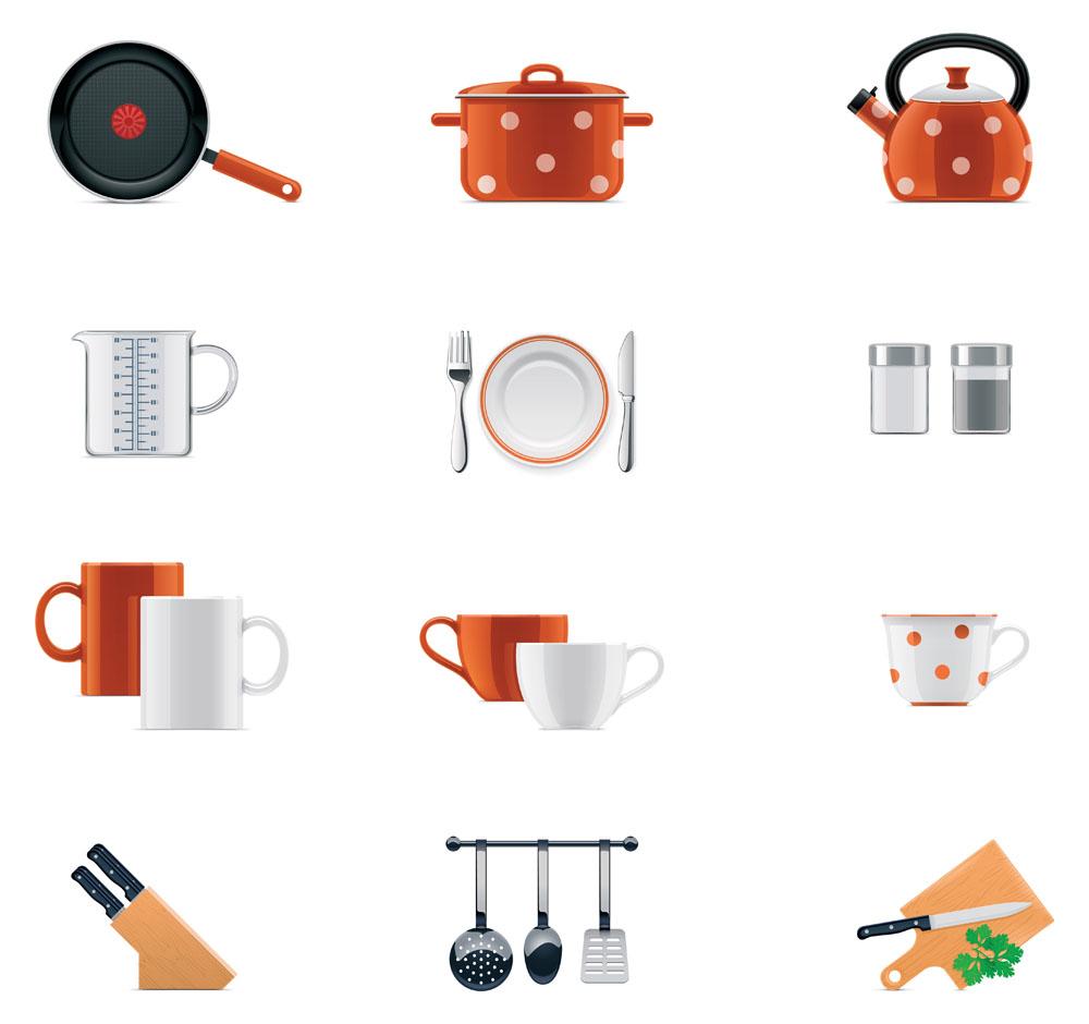 生活厨房用品图标图片图片
