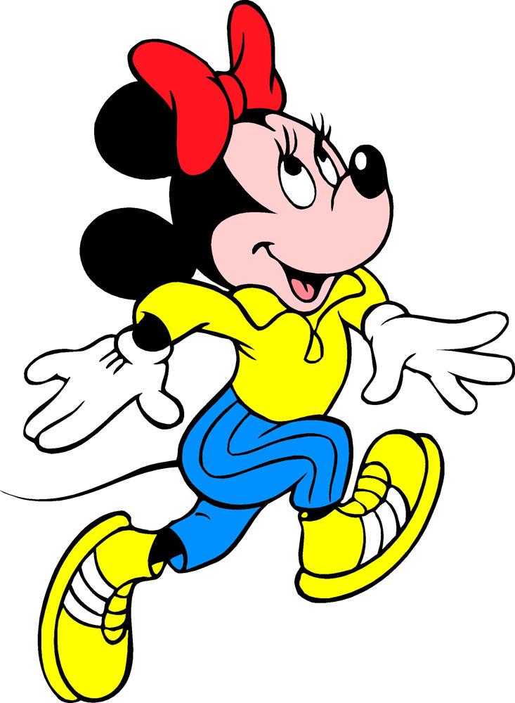 集图网 矢量素材 矢量人物 卡通形象 跑步,米妮,运动装,黄色鞋,迪斯尼图片