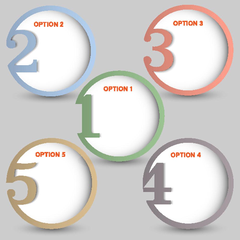 集图网 矢量素材 广告设计 其他模板 圆形,镂空,目录标签,网站按钮图片