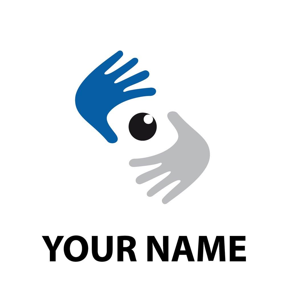 集图网 矢量素材 标志图标 其他 手,双手,眼睛,眼球,公司logo,公司