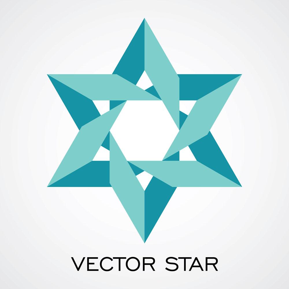 集图网 矢量素材 生活百科 其他 折纸六角星,星形图案,星星,时尚潮流图片