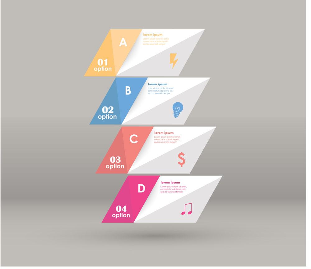 音乐,折纸,标签,贴纸,信息,图标,矢量图表,图表设计,信息图表,ppt图表图片