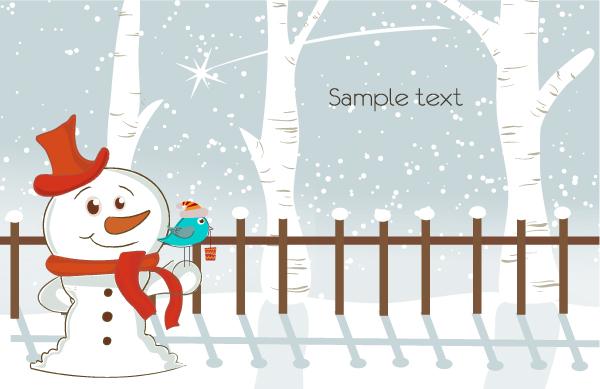 卡通圣诞节插画背景图片图片