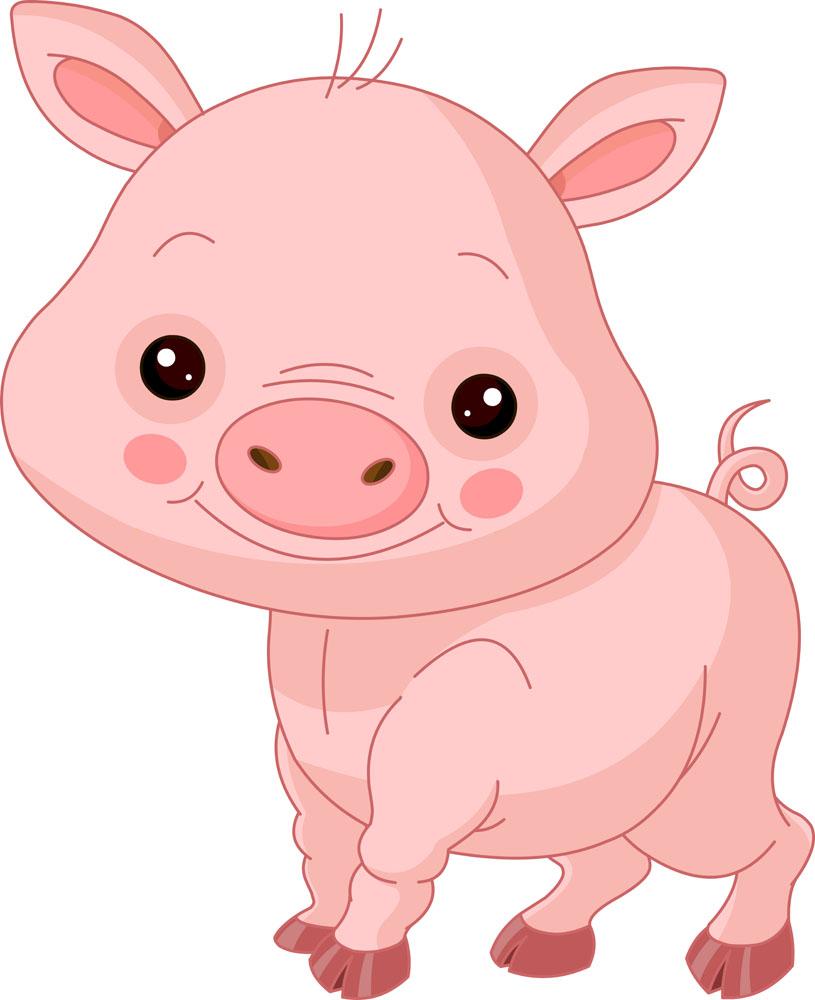 可爱卡通小猪图片_可爱卡通小猪矢量素材下载(图片ID:351070)_-卡通形象-矢量素材_ 集 ...