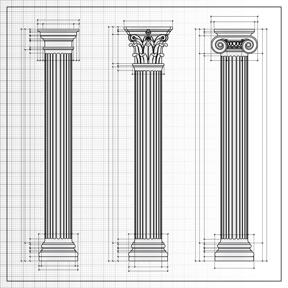 漂亮的罗马柱设计图图片图片