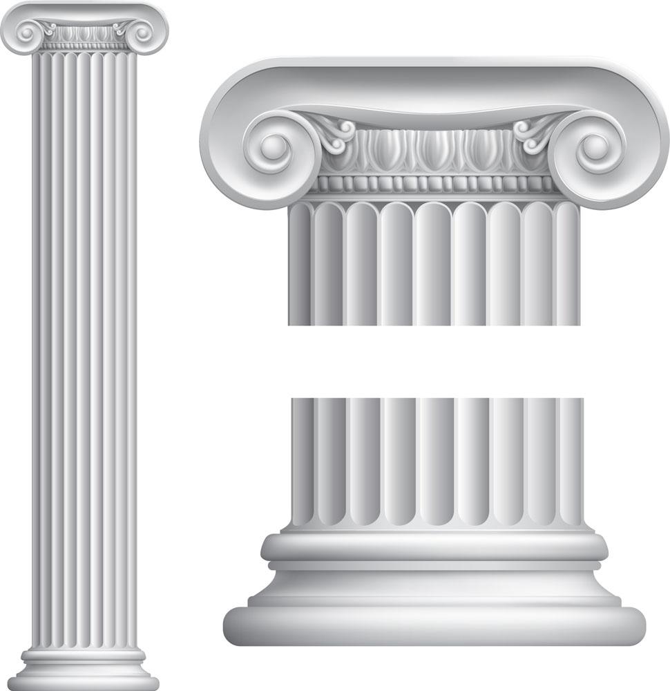 罗马柱与花纹图片图片