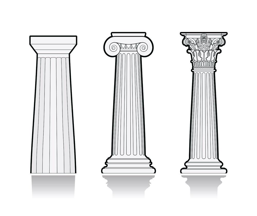 线条罗马柱设计图片图片