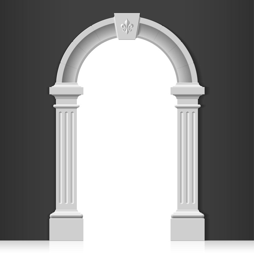 集图网 矢量素材 生活百科 其他 罗马柱,拱形门,建筑艺术,花纹,细节图片
