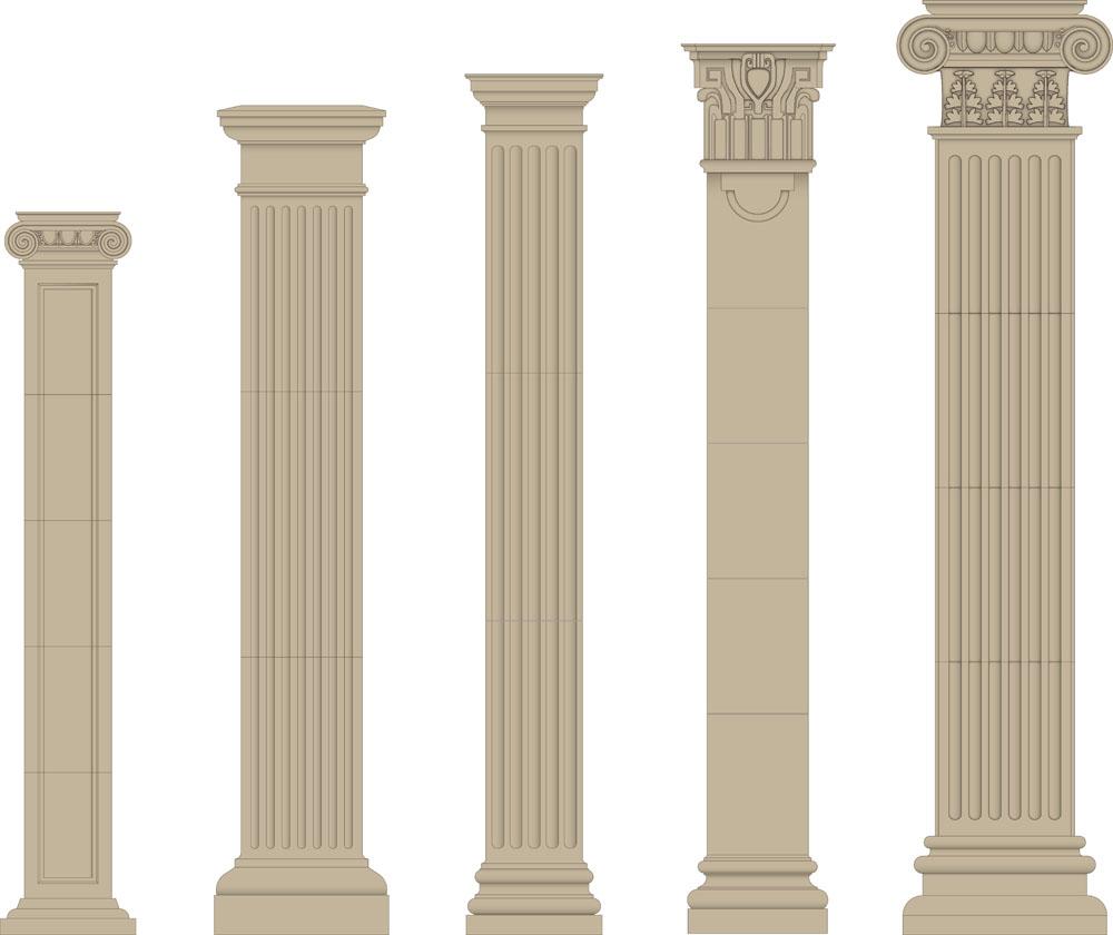 矢量各种罗马柱图片图片