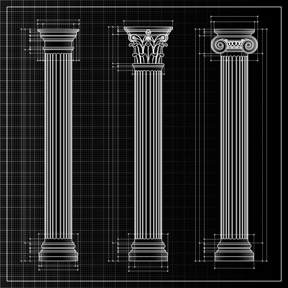三维线条罗马柱图片图片