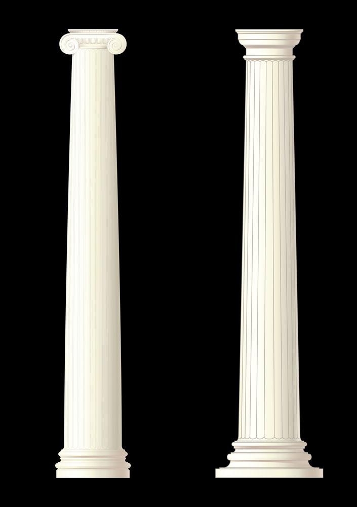 白色罗马柱背景图片图片