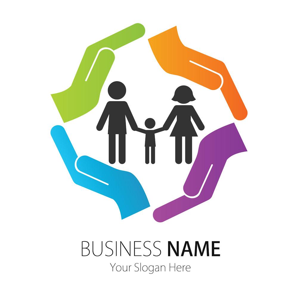 幸福家庭logo设计图片