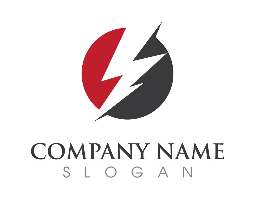 闪电logo设计图片