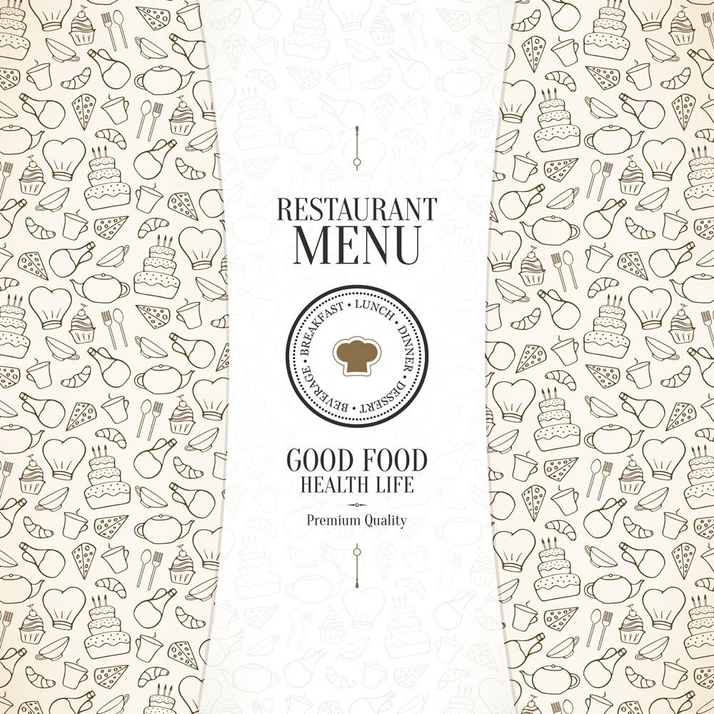 集图网 矢量素材 广告设计 菜单菜谱 美食图标,西餐标志,美食标志图片