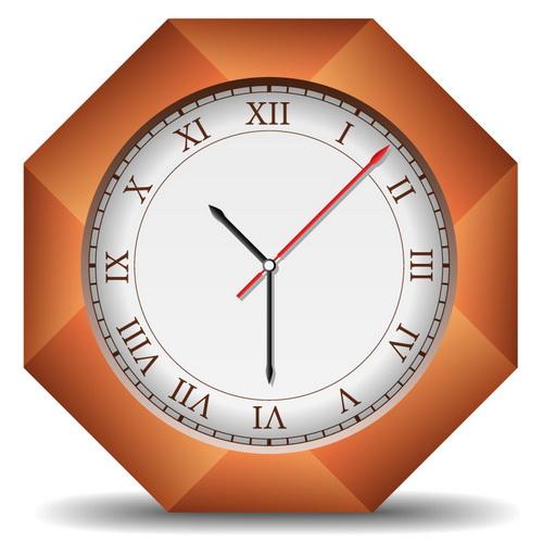 时间_矢量钟表时间图片