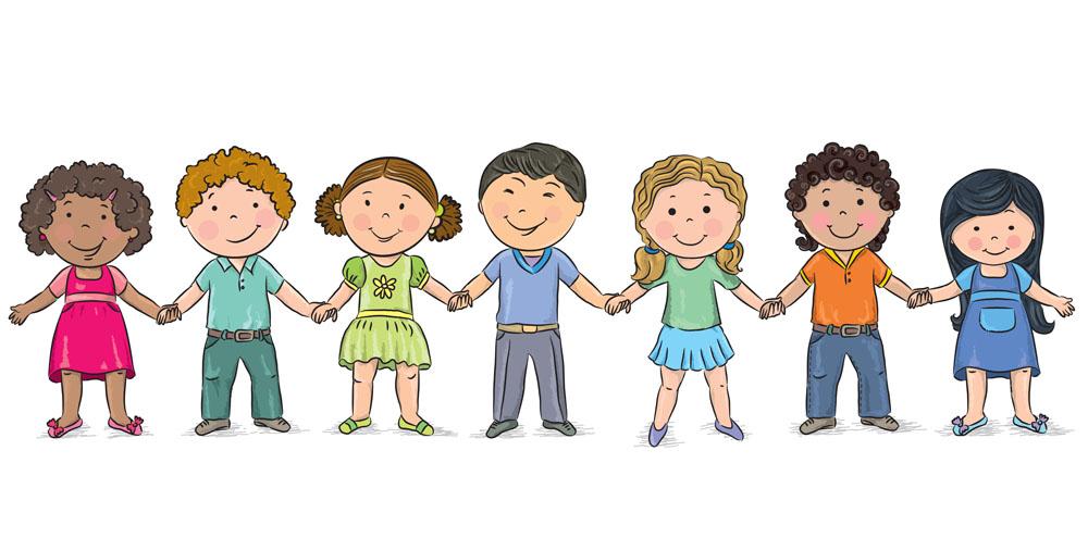 集图网 矢量素材 矢量人物 卡通形象 手牵手,卡通女孩,卡通男孩,卡通图片