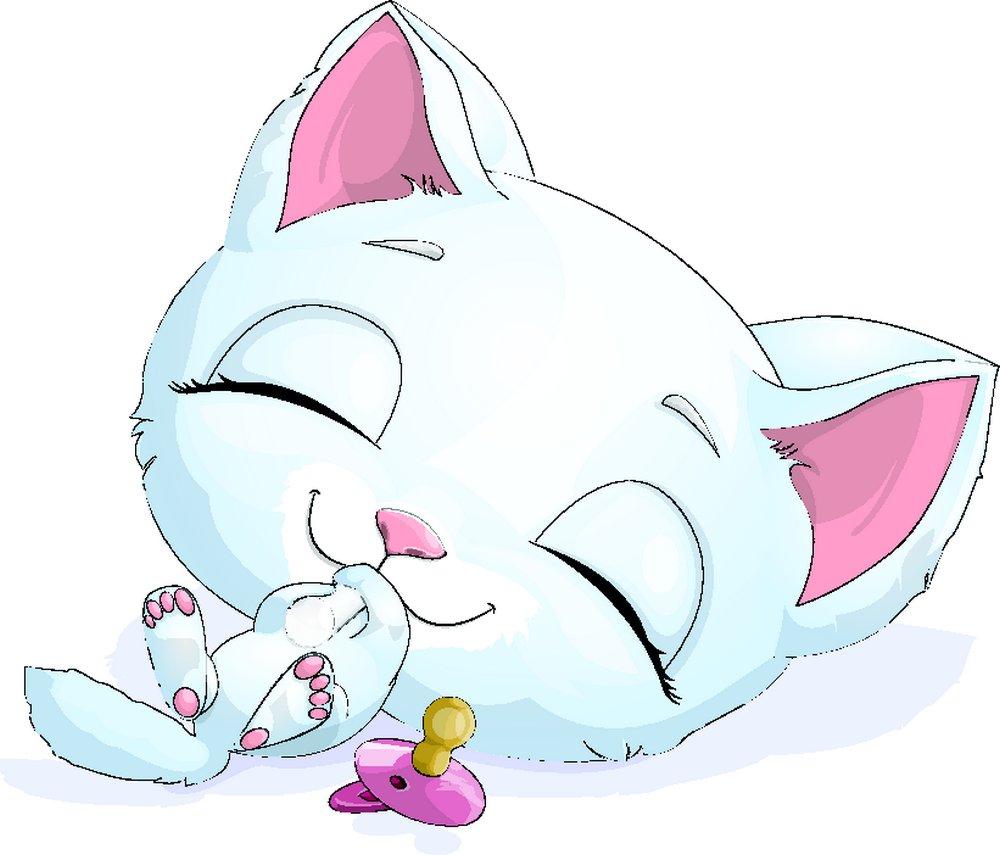 可爱的卡通小猫图片图片