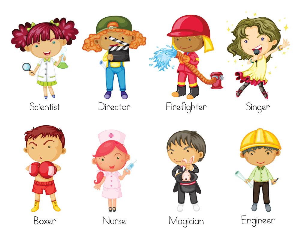 护士,拳击运动员,魔术师,建筑师,歌唱家,导演,消防员,科学家,卡通男孩图片
