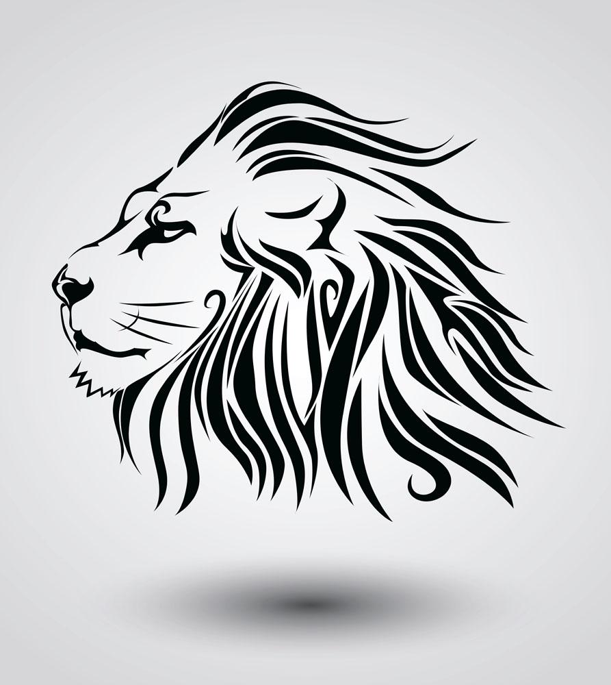 狮子头纹身图案图片图片