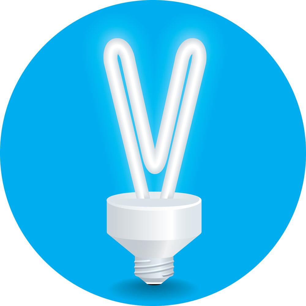创意字母v灯管图片图片
