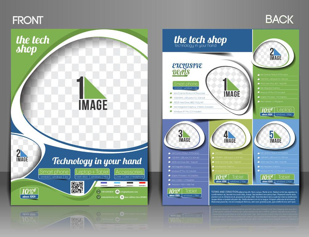 创意圆圈图片排版设计折页图片图片