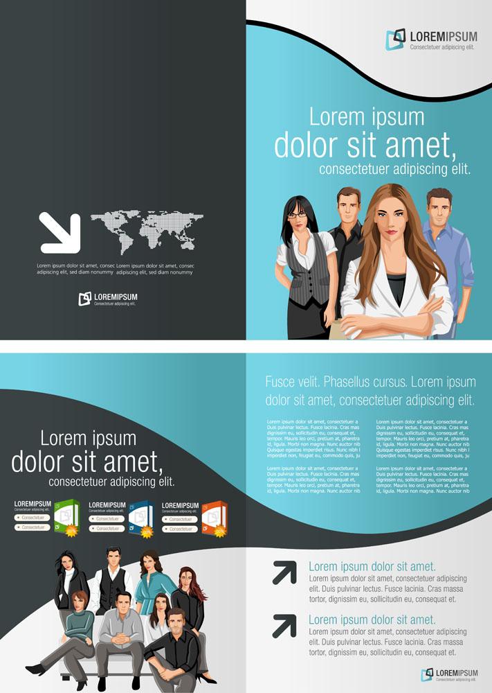 动感图形,商务画册,商务折页,画册设计,时尚折页,dm单设计,排版设计图片
