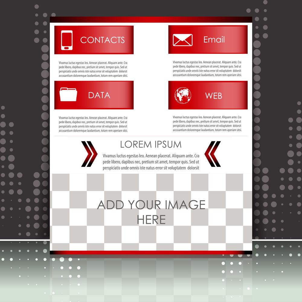 动感图形,图片排版,单页设计,时尚单页,排版设计,单页模板,折页 传单图片