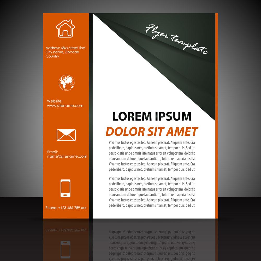 折页 传单 动感图形,单页设计,时尚单页,排版设计,单页模板,折页 传单图片