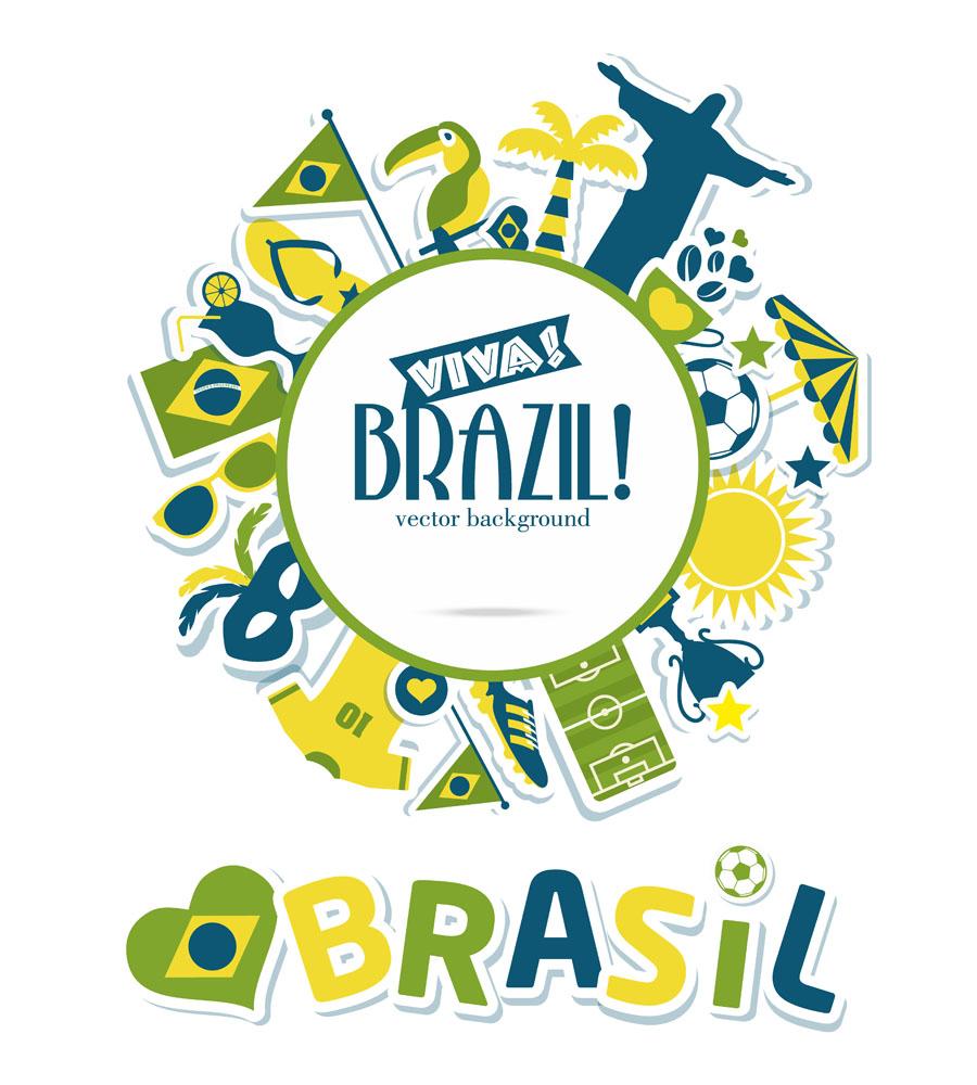 卡通世界杯标志海报图片图片