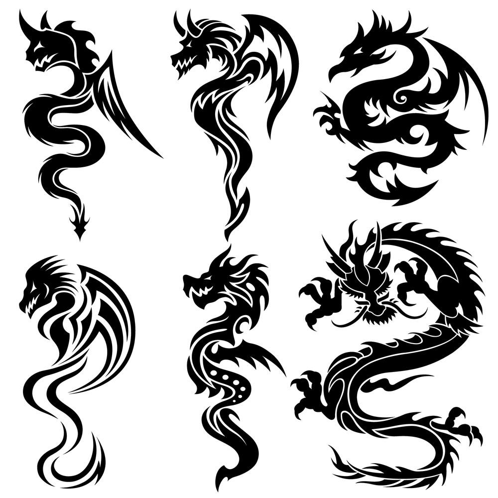 龙纹翼龙纹身图案分享展示图片